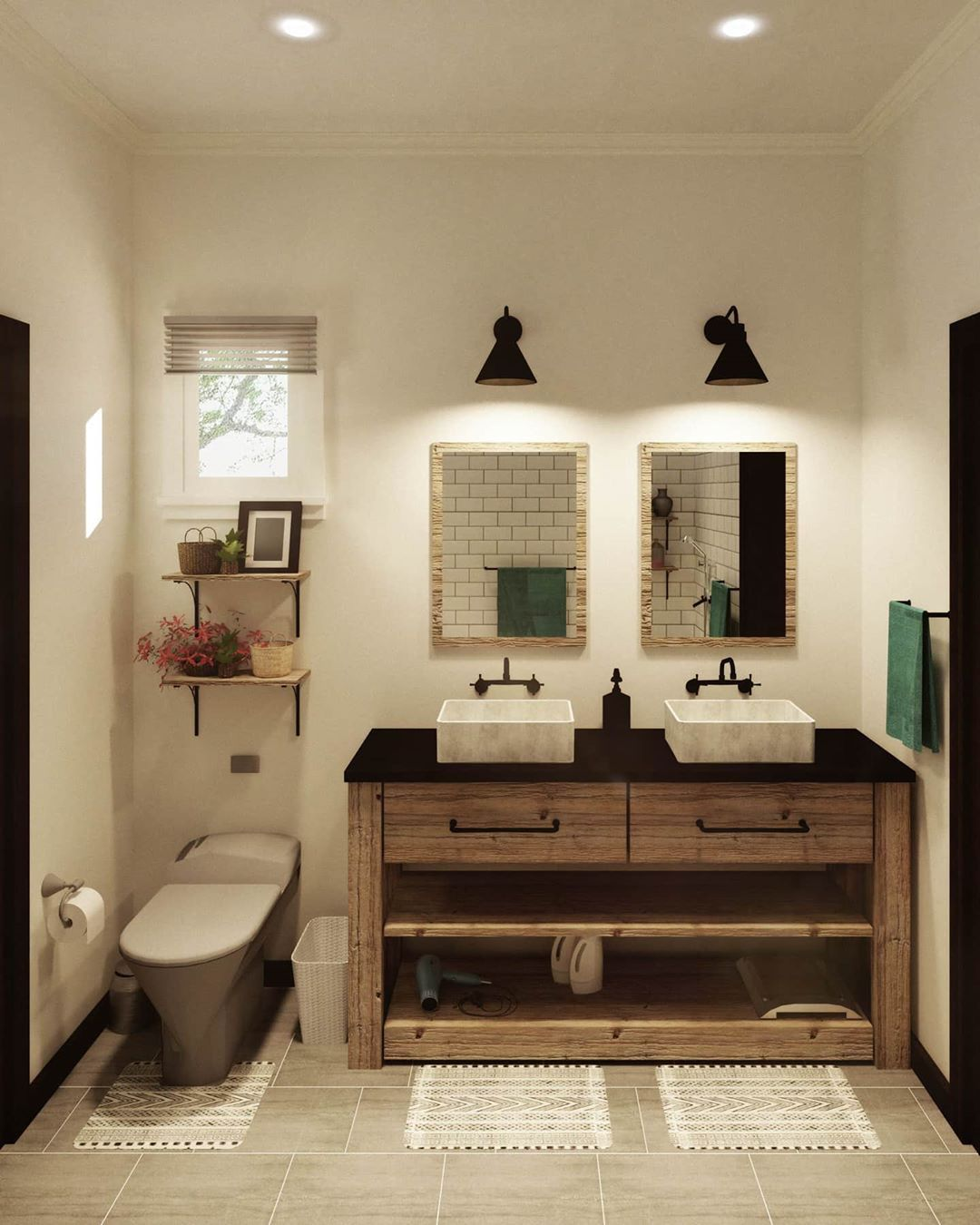 52 Rustic Bathrooms That Will Inspire Your Next Makeover In 2020