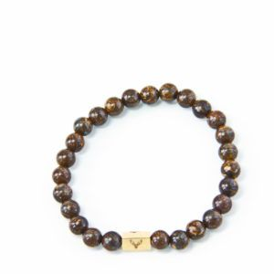 Accessories for the modern man who pays attention to details. Men's beaded bracelet with bronzite beads.