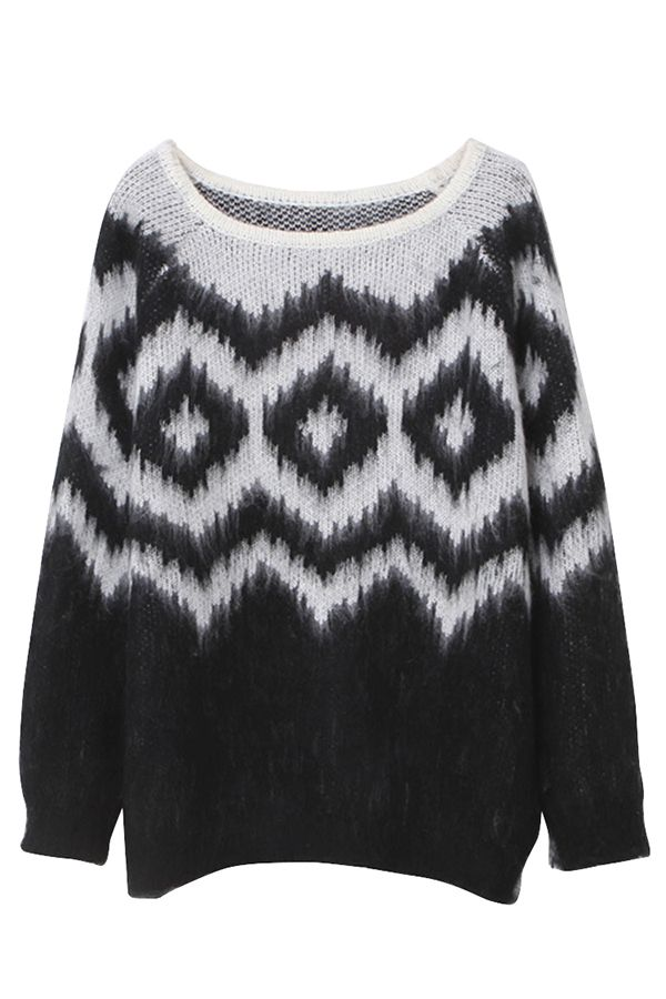 Black Color Block Pullover Argyle Knit Crew Neck Sweater http://www.pinkqueen.com/Black-Color-Block-Pullover-Argyle-Knit-Crew-Neck-Sweater-g35098