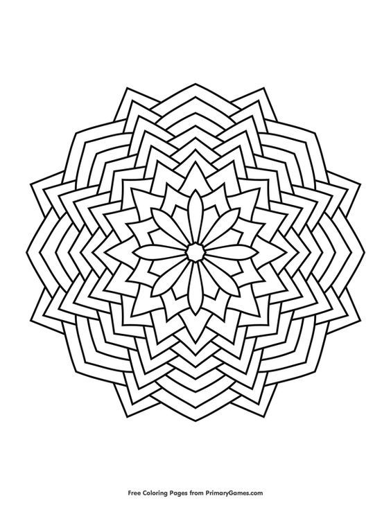 Geometric Mandala Coloring Page Free Printable Ebook In 2020 Geometric Coloring Pages Geometric Mandala Mandala Coloring Pages