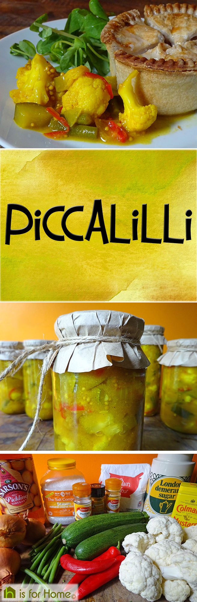Get the recipe for my home-made piccalilli, an essential accompaniment to #Christmas ham and cheese board #fdbloggers #recipe #preserving #canning