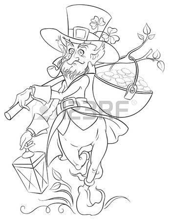 elf s: Leprechaun con el crisol de la moneda de oro del día de San ...