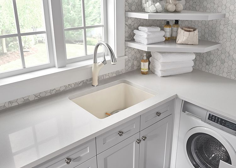 Going Beyond The Kitchen Sink What To Use A Laundry Room Sink For Laundry Room Sink Small Laundry Rooms Laundry Room Organization