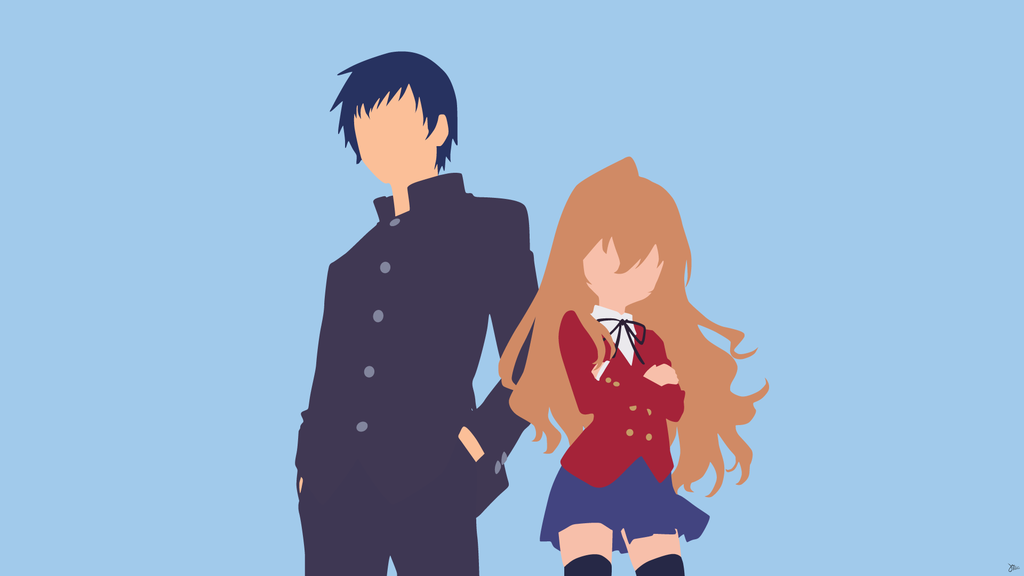 Ryuuji Takasu Aisaka Taiga Toradora Minimalism Toradora Anime Anime Characters
