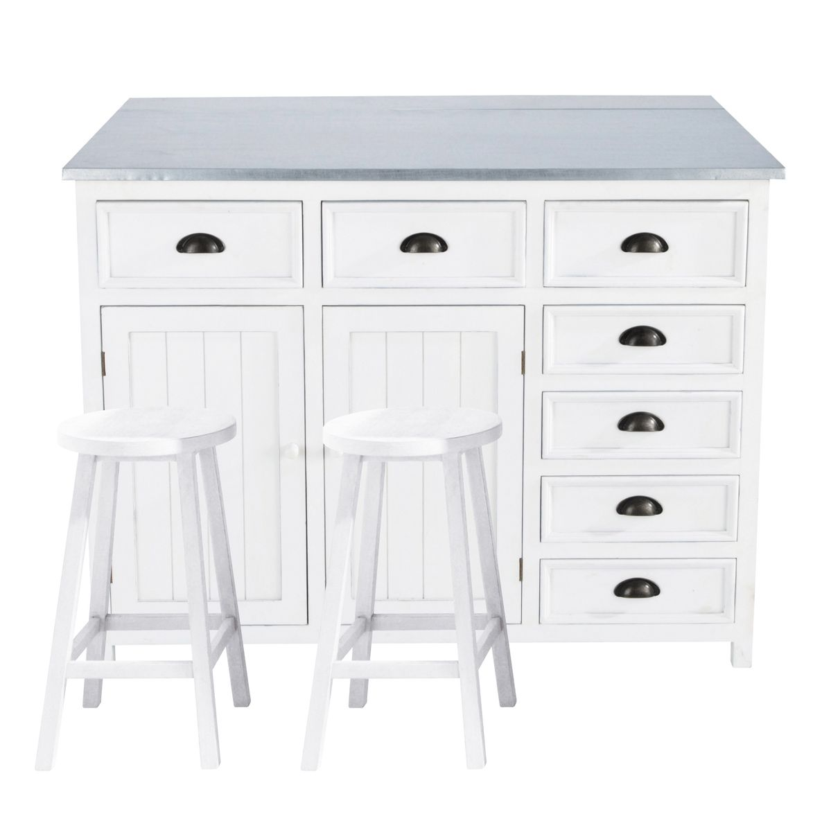 Kücheninsel aus Holz, B 120 cm, weiß Newport | Küche | Pinterest ...