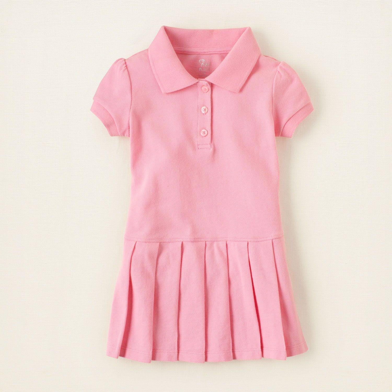 baby girl dresses uniform pleated polo dress