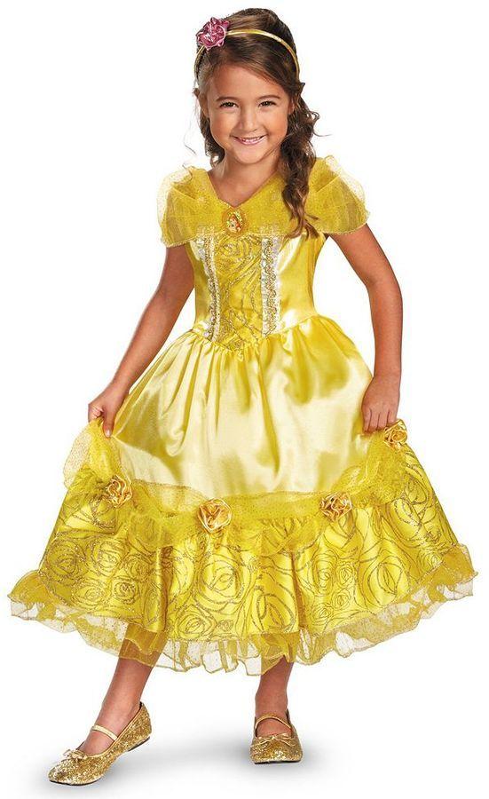 Deluxe Belle Bella /& La Bestia Costume Ragazze Costume Bambino Disney Princess