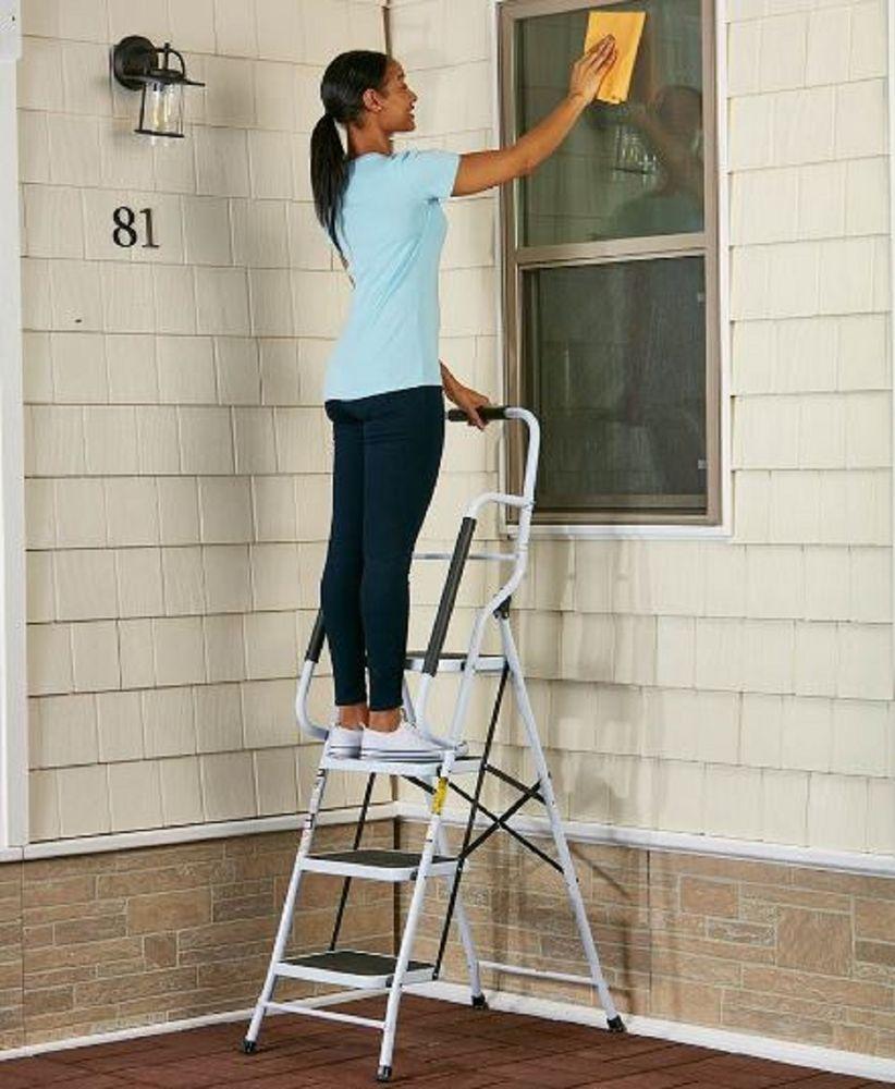 Best Step Ladder Folding Stepladder 4 Steps Home Safety 640 x 480