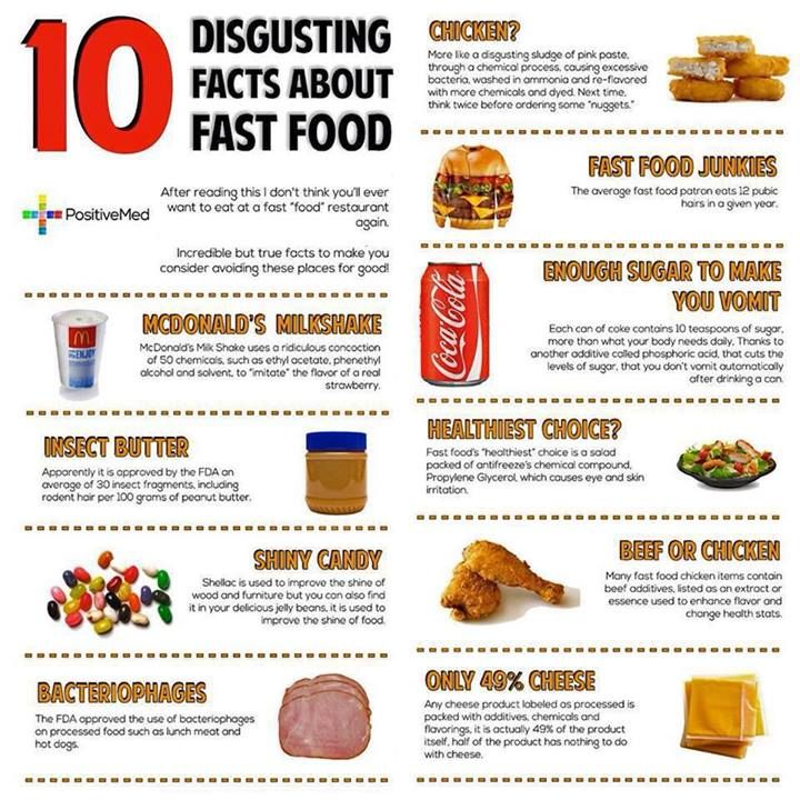 10 More Reasons To Eat Healthy Lord Please Help Me To Make The Switch Eathealthy Fast Food Facts Food Facts Foods To Avoid