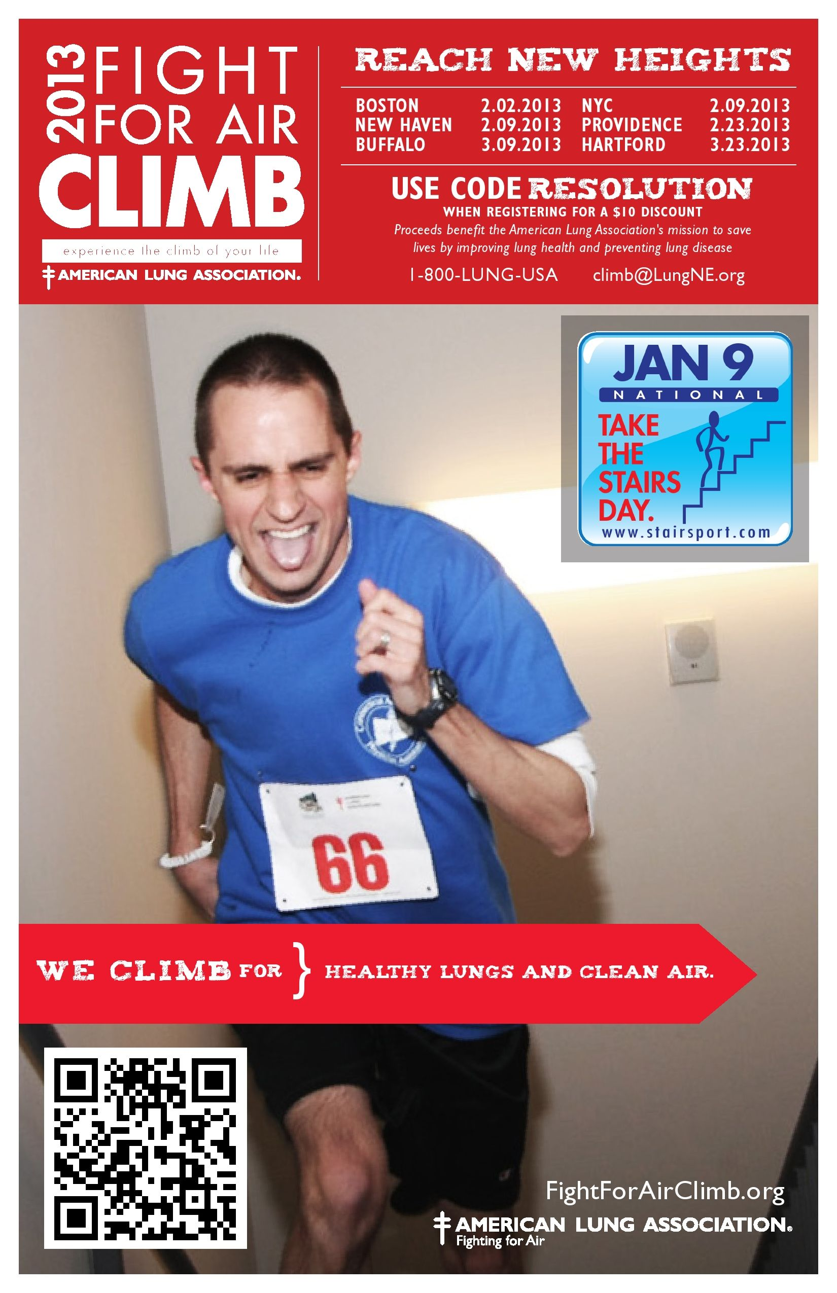 The American Lung Association Is Joining With Www Stairsport Com In Declaring January 9 2013 As National Take American Lung Association Take The Stairs Lunges