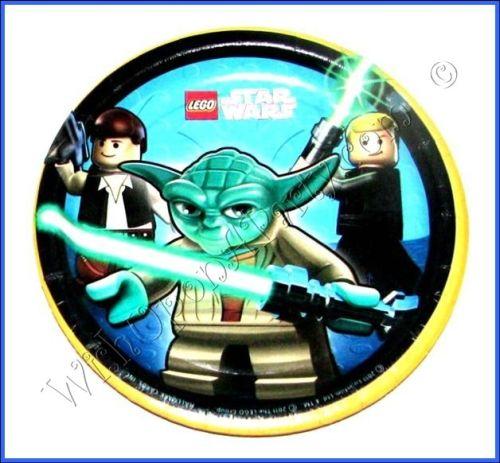 LEGO Star Wars: 8 / 7 Dessert Plates (Great Birthday Party Supplies!)
