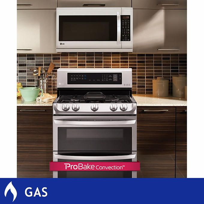Modern Kitchen Pull Out Microwave Built In Microwave Stainless Steel Appliances Gas Range High Staining Cabinets Kitchen Bathroom Remodel Kitchen Remodel