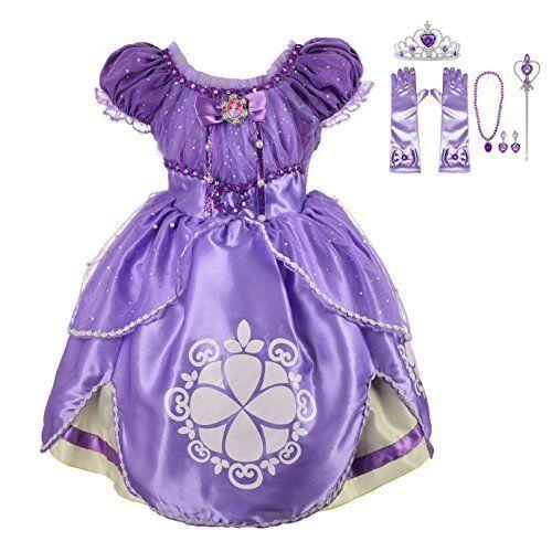 34f01d97f Lito Angels Girls  Princess Sofia The First Dress Up Costume (4T
