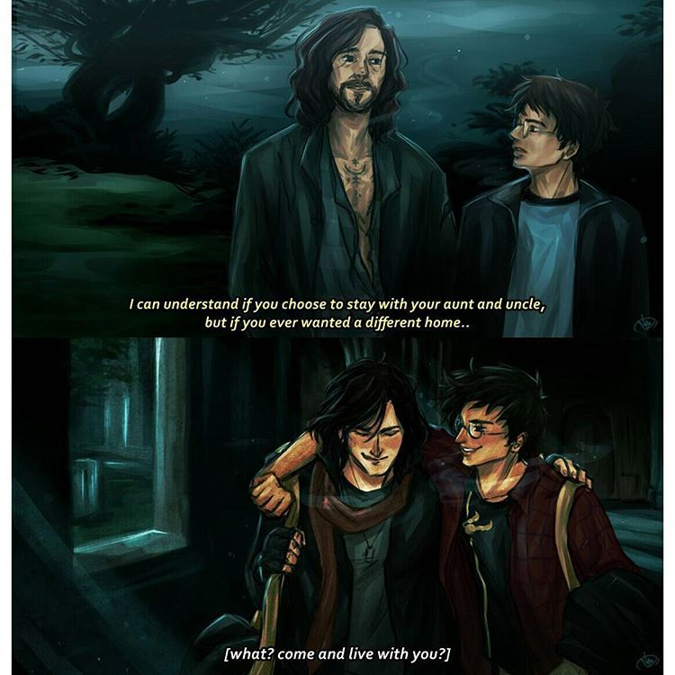 """Photo of Agust D on Instagram: """"[HP screencap redraw 2/3] Harry and Sirius from Harry Potter and the Prisoner of Azkaban X James and Sirius . . . . Pardon the background,…"""""""