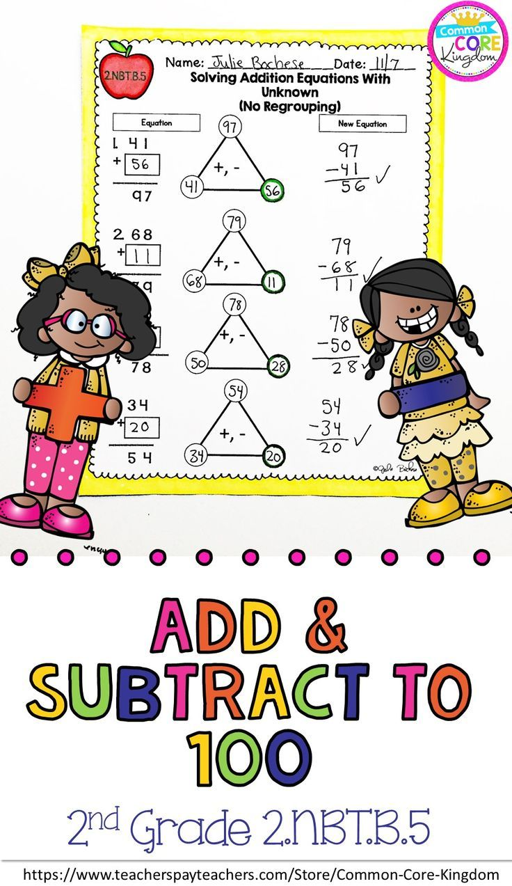 Add Subtract To 100 2nd Grade 2 Nbt B 5 Google Slides Distance Learning Pack Subtraction Adding And Subtracting Math For Kids [ 1273 x 736 Pixel ]