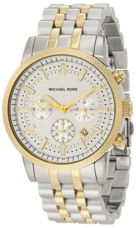 Michael Kors Men Silver Dial Rose / SilverBand Watch $190.95 http://r.ebay.com/yctyE3 #MenWatch