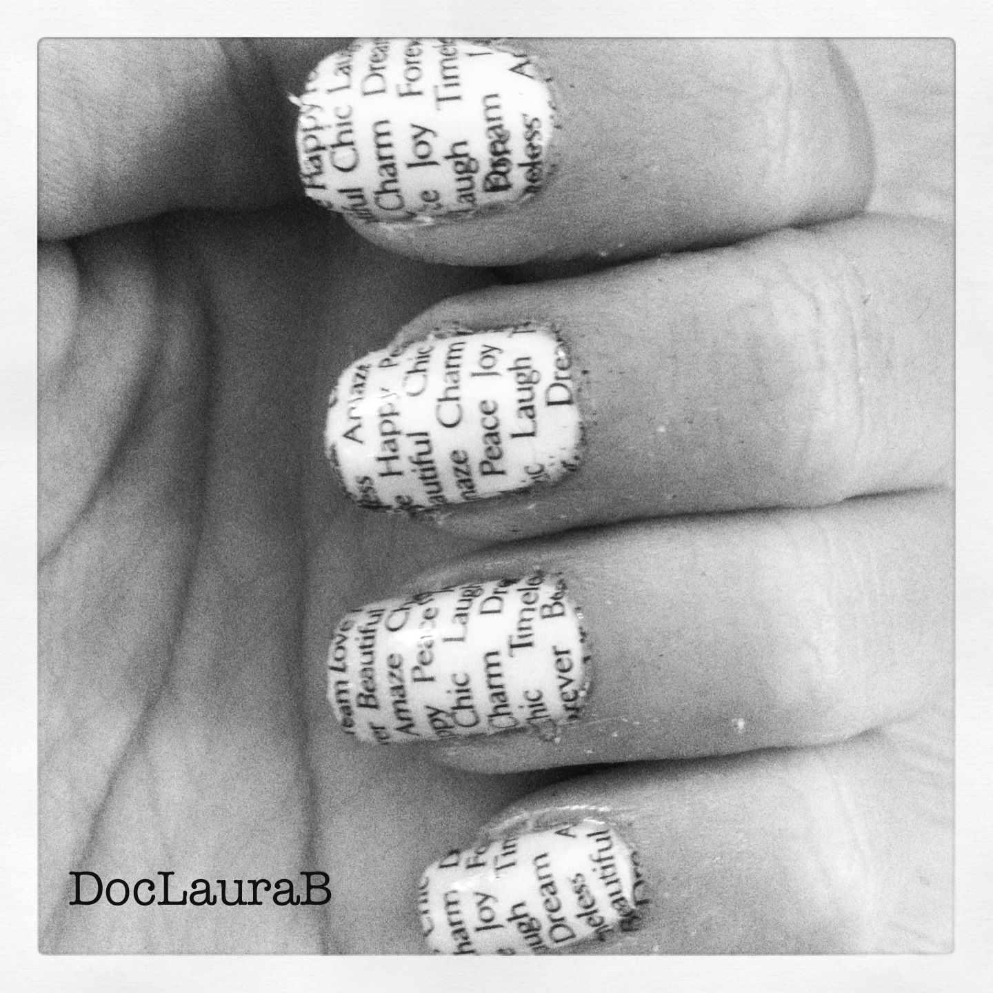 Diy Newspaper Nail Art The pinterest newspaper nail | Do It Yourself ...