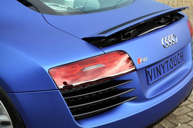Audi R8 Diva Wrapped In Avery Dennison Swf Brilliant Blue Matt Metallic By Vinytouch