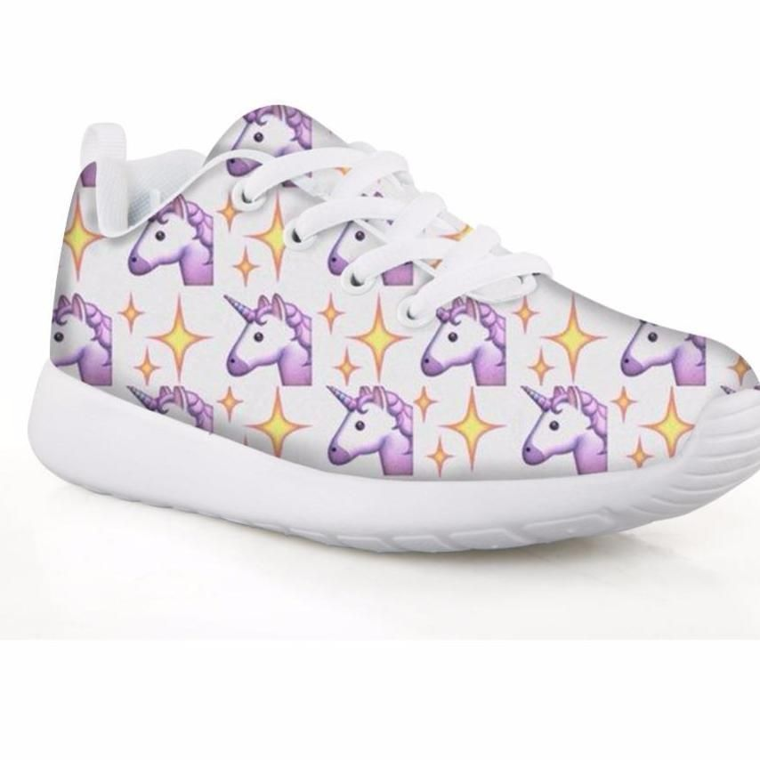 Unicorn Girls Rainbow Sneakers Sport