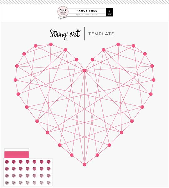 pink paislee fancy free string art template string art pinterest