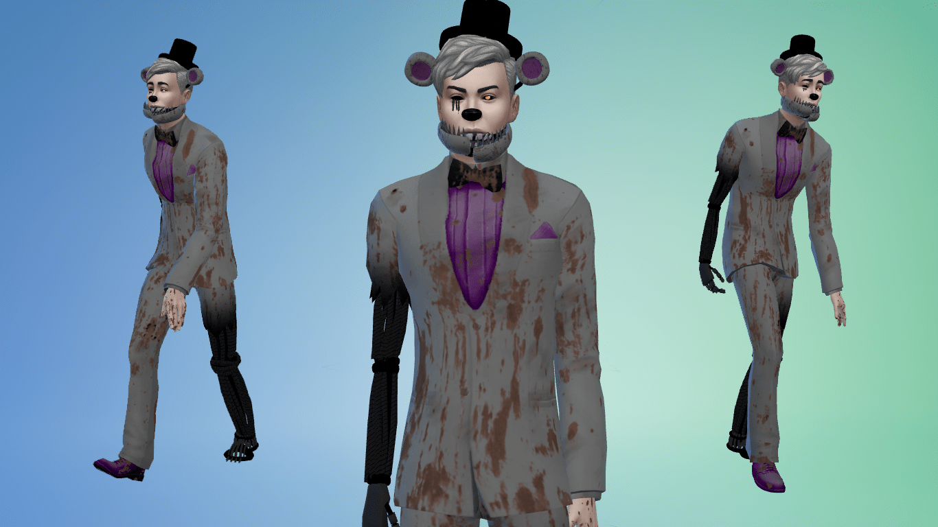 FNAF Molten Freddy CC Bundle for Sims 4 (With images