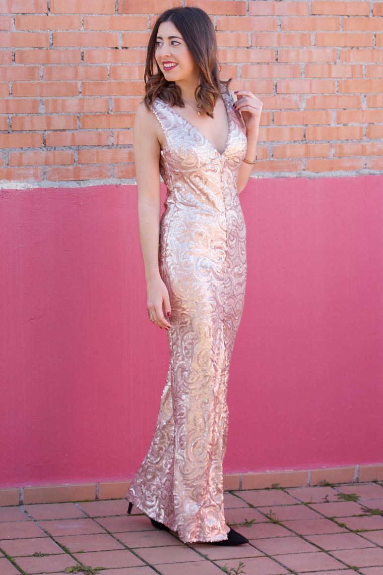 midilema.com | Mermaid gown | Lucía Peris is wearing a princess-like ...