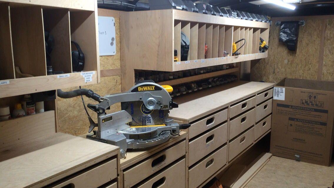 Lighting Garage Storage Organization Work Trailer Cabinets Organization