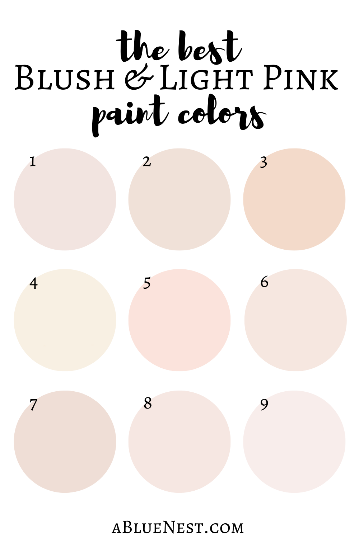 The Best Blush Pink Paint Colors Orc Week 2 A Blue Nest Blush Pink Paint Pink Nursery Paint Girls Room Paint Colors