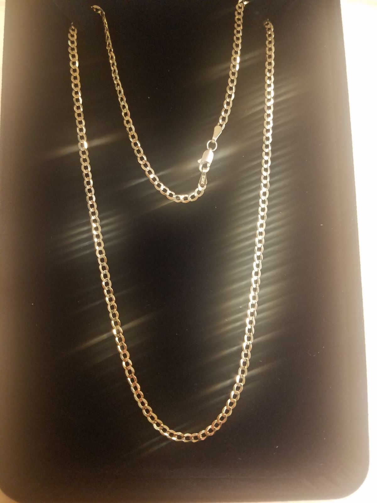 10k Solid Gold Curb Link Chain Not Hollow Not Semi Hollow Not Gold Plated Straight From The Manufacturer Never Been Worn Solid Gold Chain Stamped Necklaces