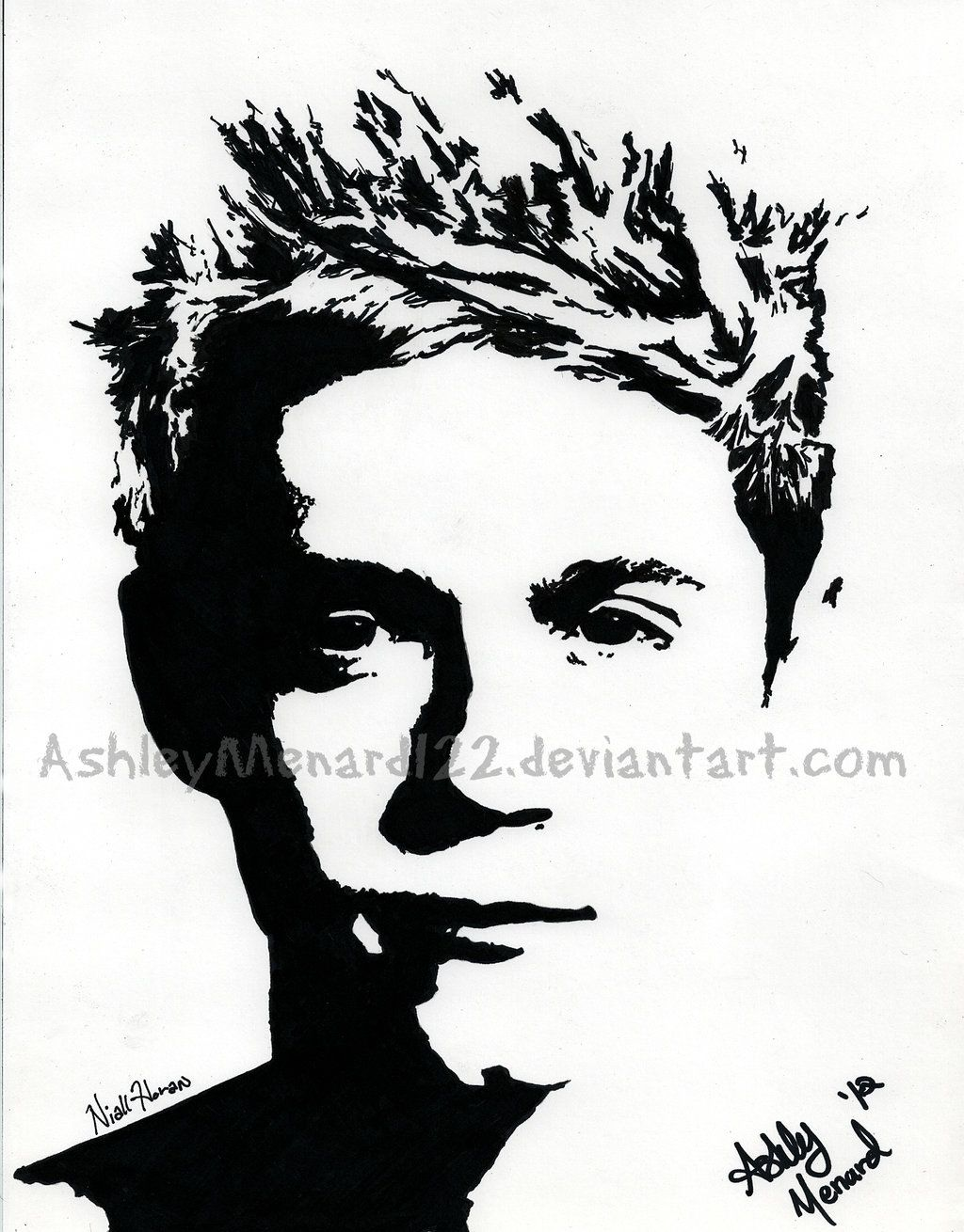 Permanent Sketch Book: Niall Horan One Direction By