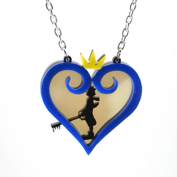 Kingdom Hearts Sora Silhouette Necklace Kingdom Hearts Pinterest