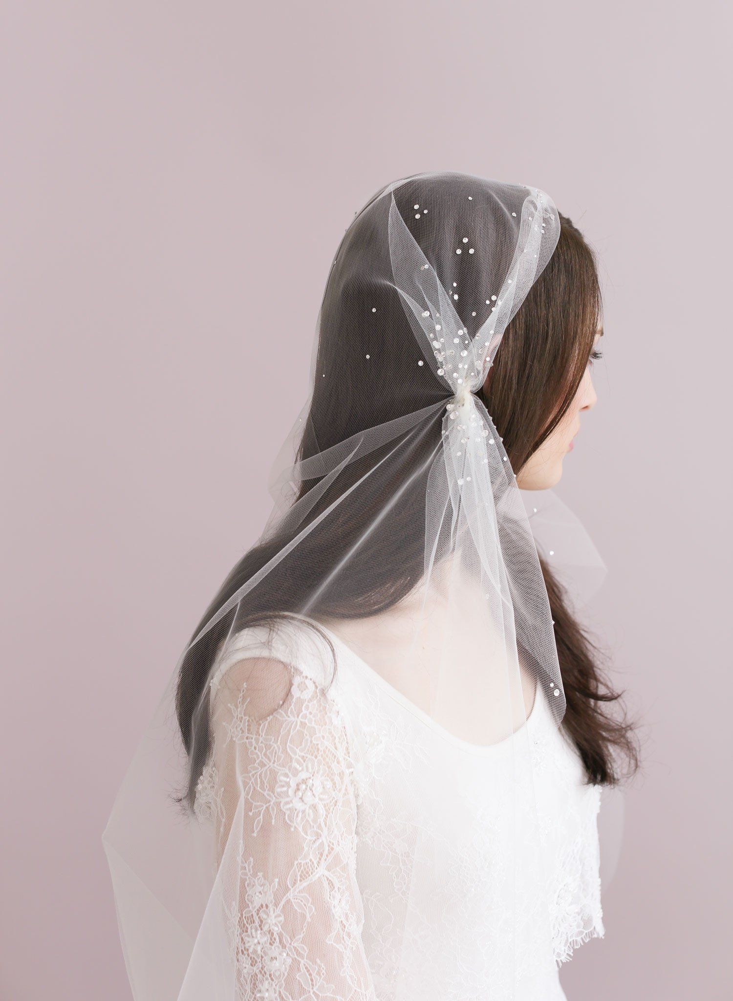 Juliet wedding dress  Rhinestone speckled juliet veil  Style    Pinterest  Veil and