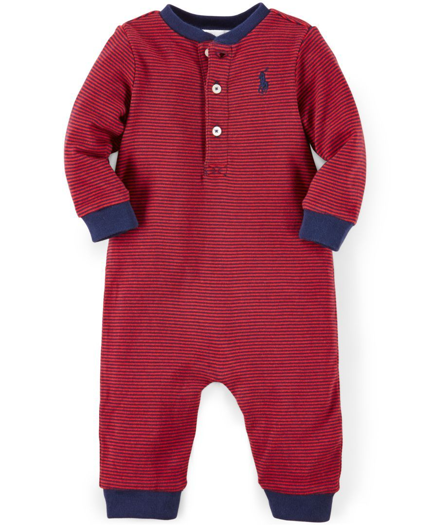 Polo Ralph Lauren Baby Boys' Striped Henley Coverall