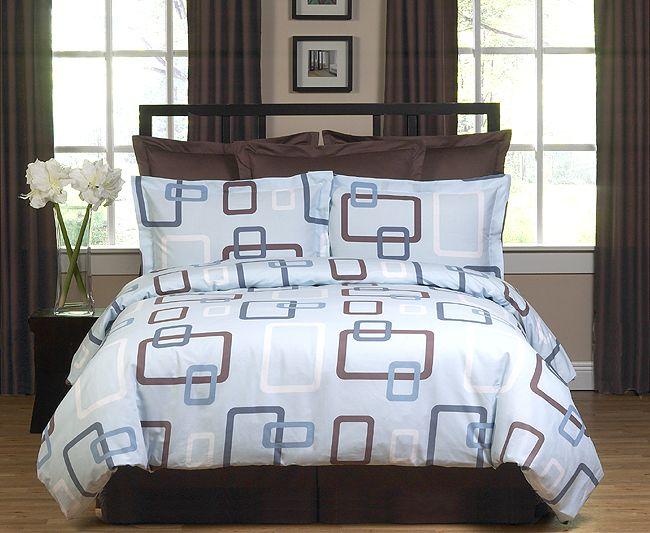 Geo Blue Age Bedroom Set Sweet Peaches Bedding