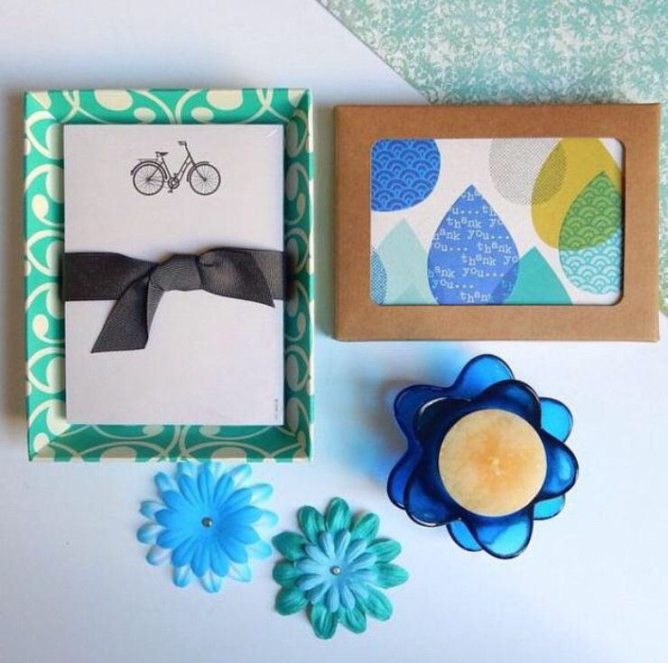Send a handwritten thank you with these raindrop cards from Hallmark.