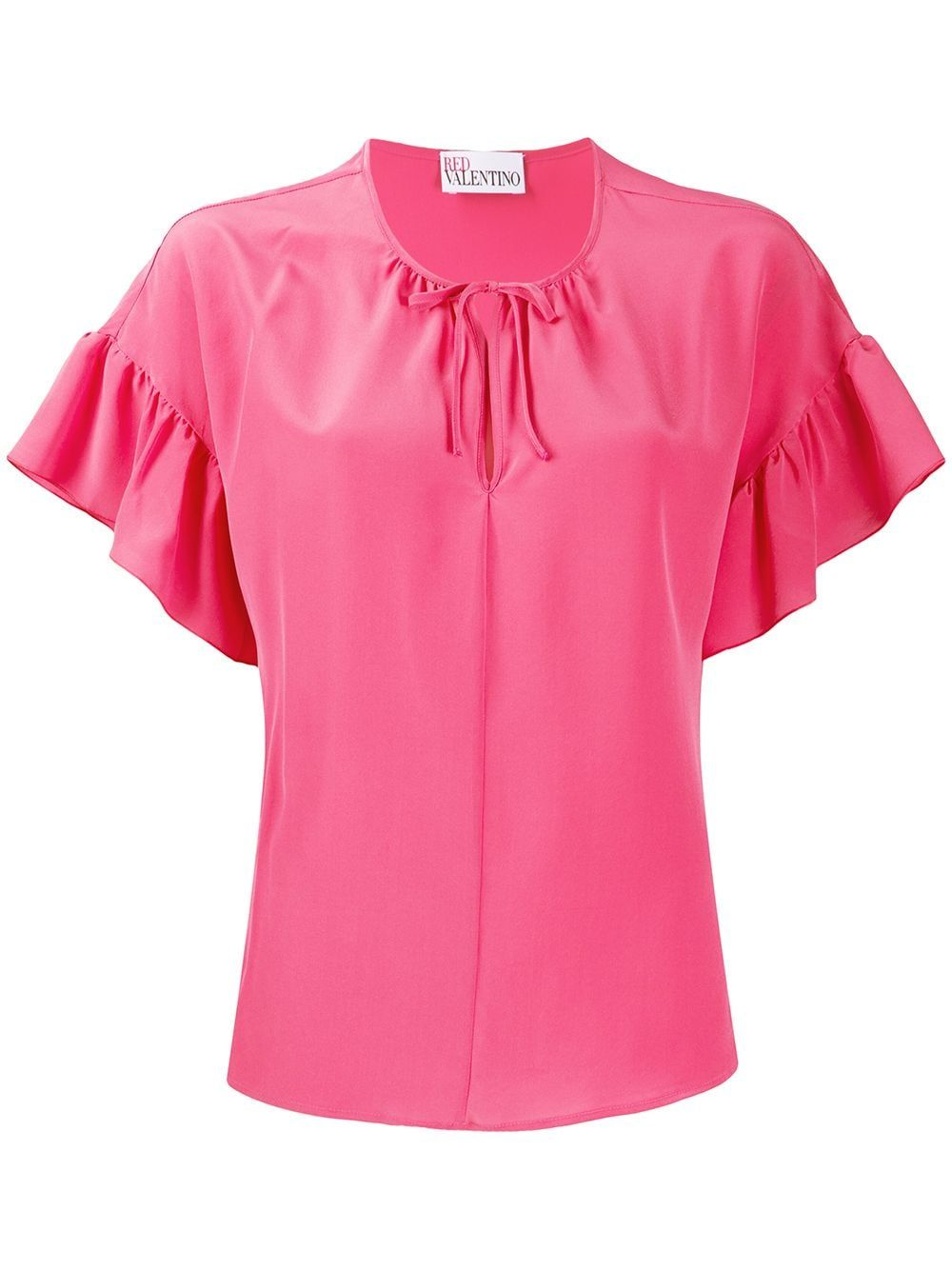 Red Valentino Ruffle Sleeve Blouse In Pink Modesens Ruffle Sleeve Blouse Bright Pink Blouse Pink Blouse