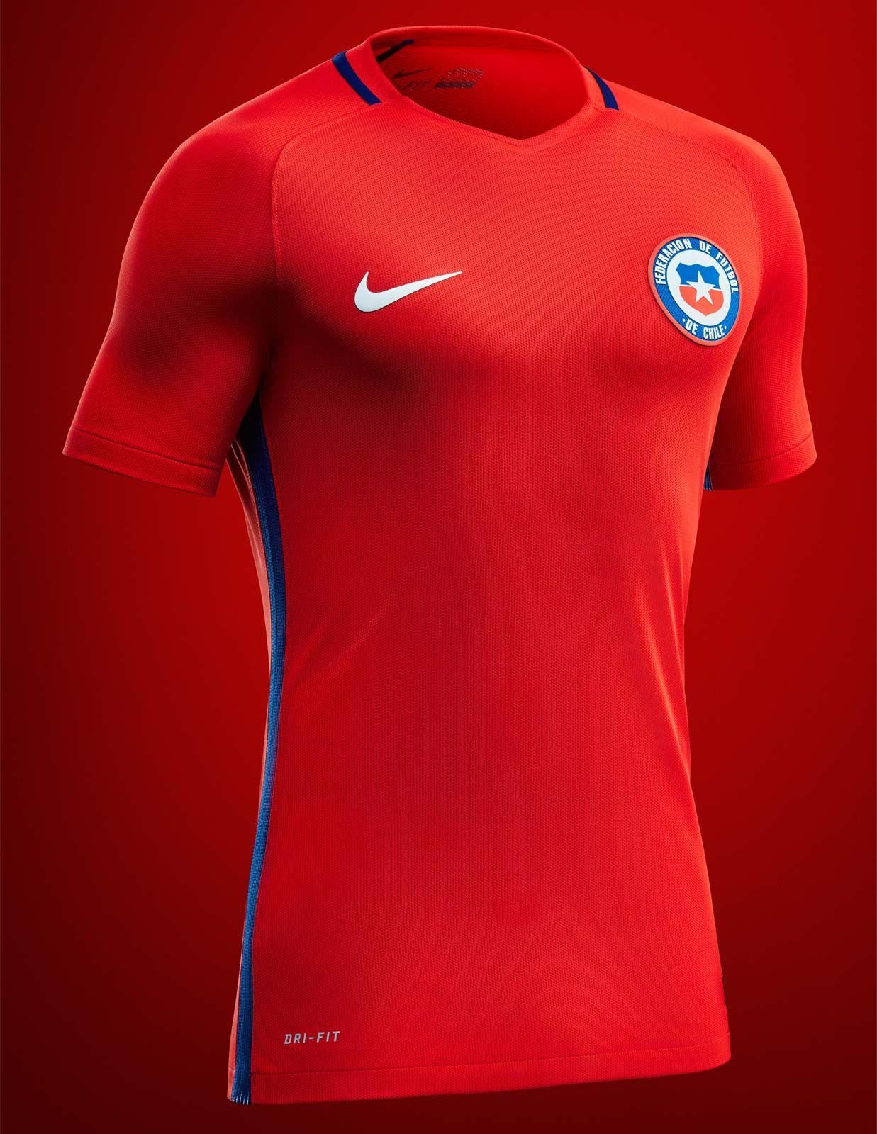 fb88babea7 Camisas do Chile 2016-2017 Nike Copa América Centenário