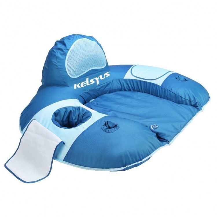 Us 71 87 Floatingchair Pool Float Chair Lounge Storage Jet Valve Blue River Lake Beach Inflatable New Pool Lounger Lounger Swimming Pool Chair