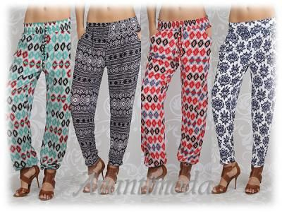 Spodnie Pumpy Alladynki Wzory Damskie Azteckie Hit Harem Pants Fashion Pants