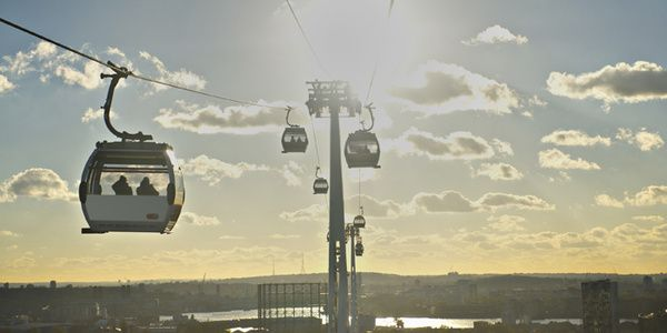 Take a trip across the Thames on the Emirates Line - a cable car to cross the river! #london #TheThames #cablecar https://www.tfl.gov.uk/modes/emirates-air-line/