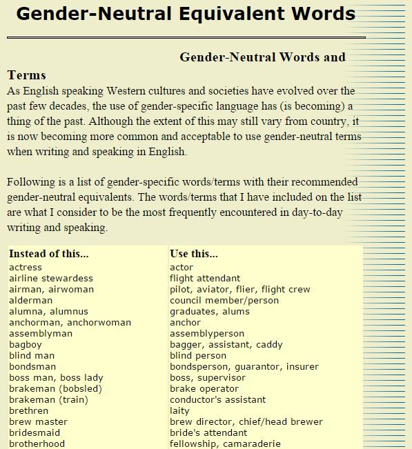 Useful Gender-neutral equivalent words WAY TO GO TUMBLR - citizenship application form