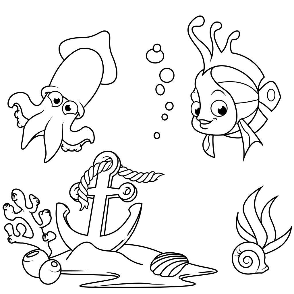 Hi all! Fish Coloring Pages is a new, very cute coloring ...