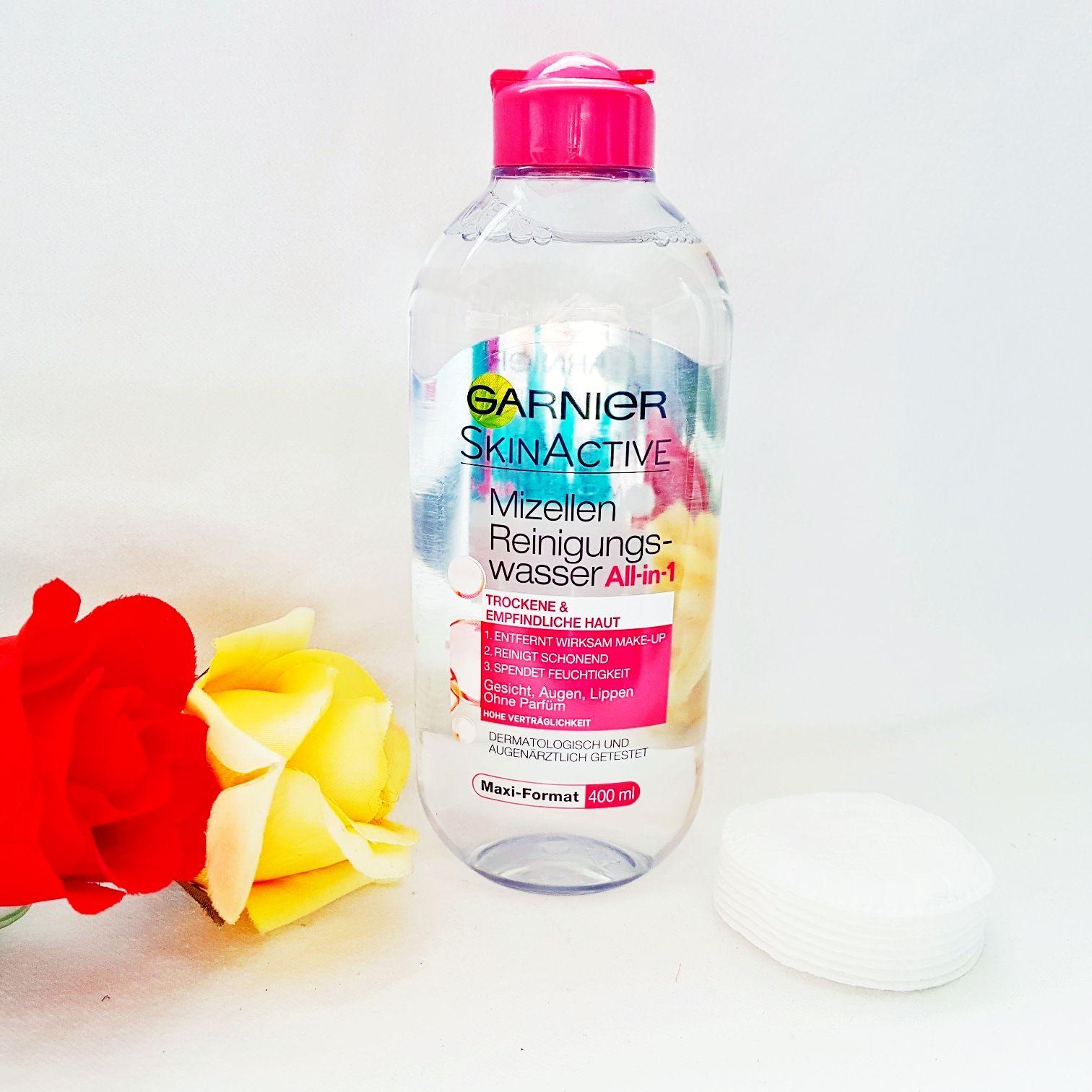 Garnier Skin Naturals Mizellen Reinigungswasser All- in-1 für trockene und empfindliche Haut