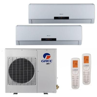 Gree Multi Zone 24 000 Btu 2 Ton Ductless Mini Split Air Conditioner With Heat Inverter Remote 208 230v 60hz Ductless Mini Split Heat Pump Air Conditioner