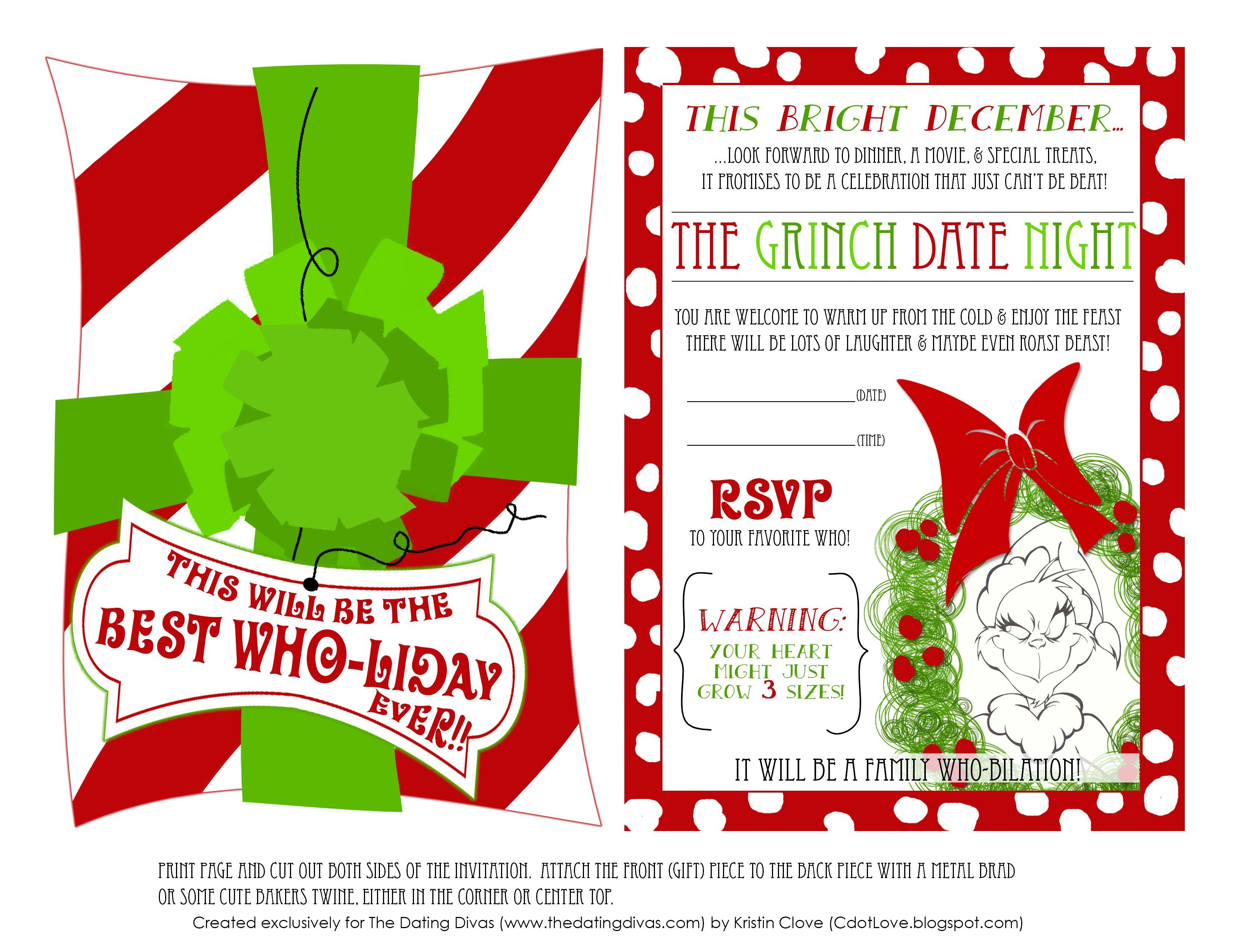Image result for free printable grinch invitations ...