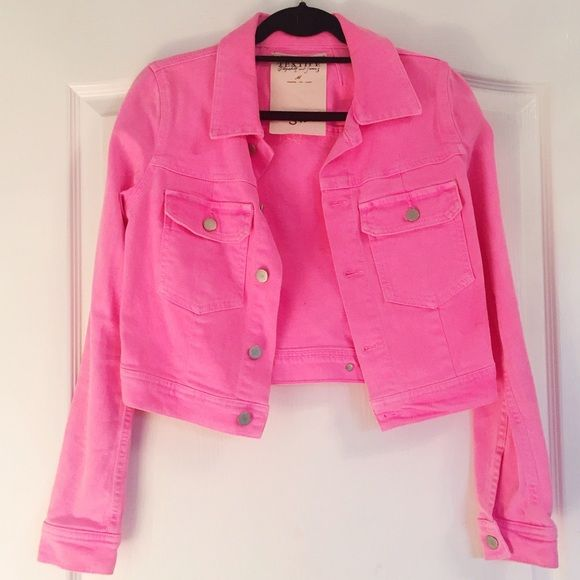 separation shoes info for on feet shots of Hot pink denim jacket Hot pink denim jacket by Elizabeth ...