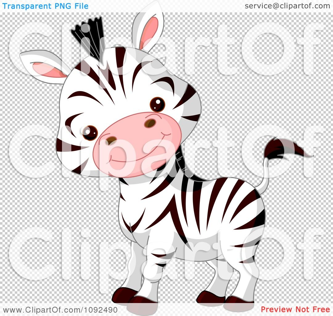 Clipart Cute Baby Zoo Zebra Royalty Free Vector Illustration By Pushkin 1092490 Free Vector Illustration Animal Sketches Zoo Babies