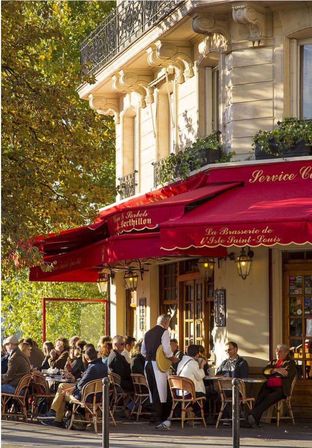 La Brasserie De L Isle Saint Louis Paris Cafe Paris Travel Parisian Cafe