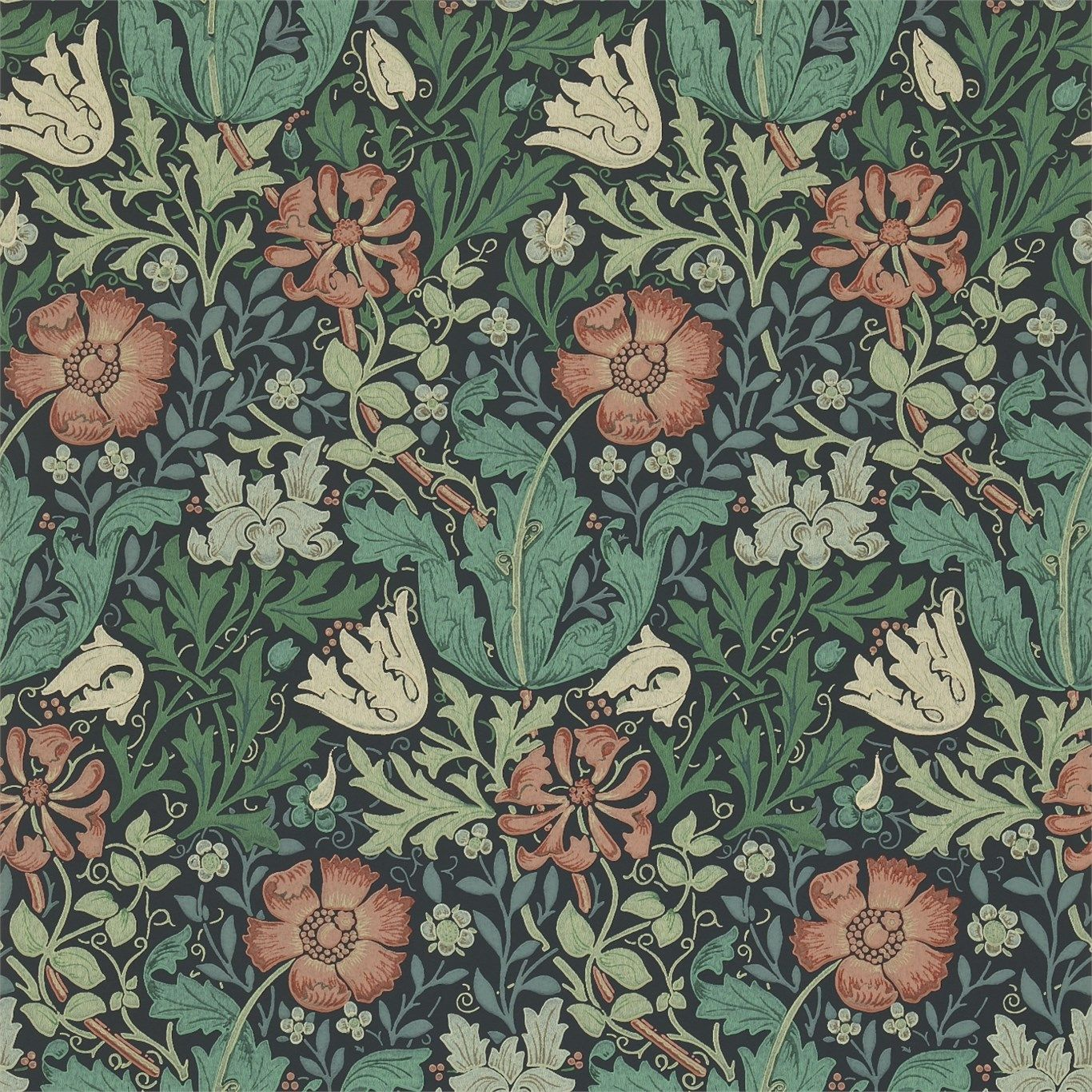 Compton Wallpaper Morris Wallpapers William Morris Wallpaper Art Nouveau Pattern