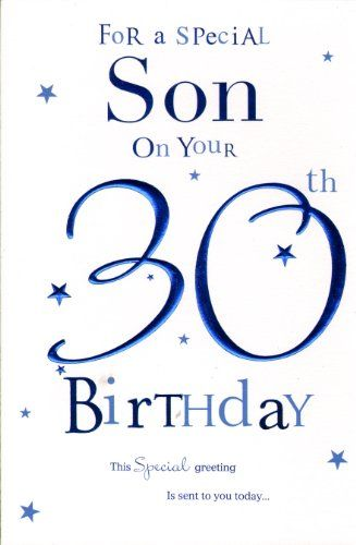 Son On Your 30th Birthday Birthday Card Birthday Card Httpwww